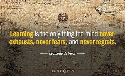 education quote da vinci