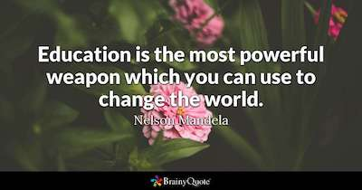 education quote mandela