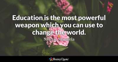 education quote mandela
