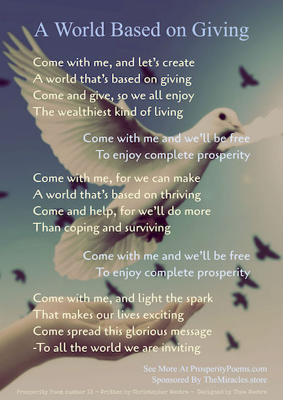 small prosperity poem 13 - A World Based on Giving