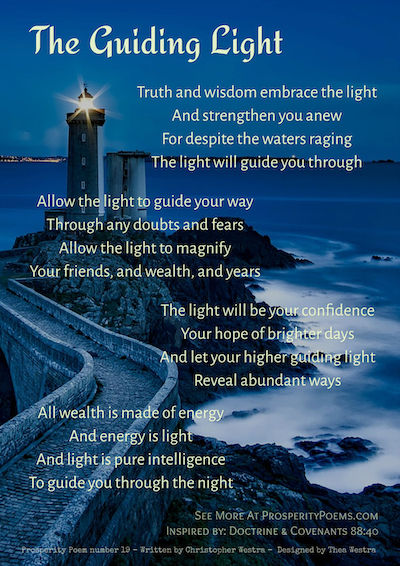 Prosperity Poem Number 19 - The Guiding Light -  by Christopher Westra