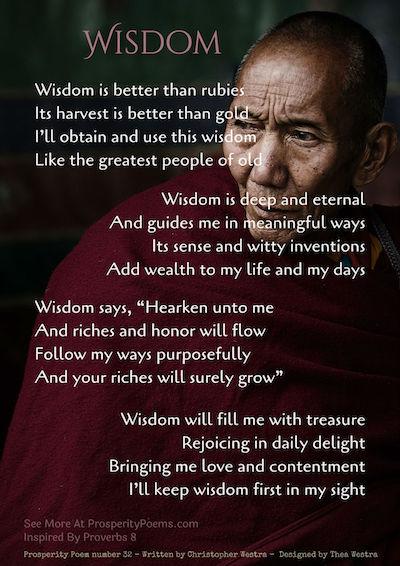 Wisdom - Prosperity Poem 32