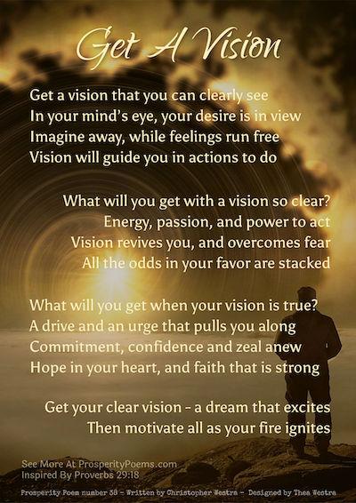 Prosperity Poem 38 - Get a Vision