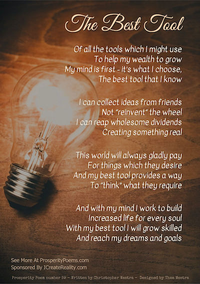 Prosperity Poem 59 The Best Tool