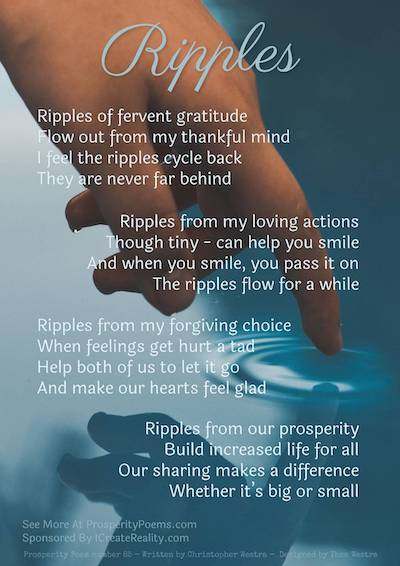Prosperity Poem Ripples of Gratitude